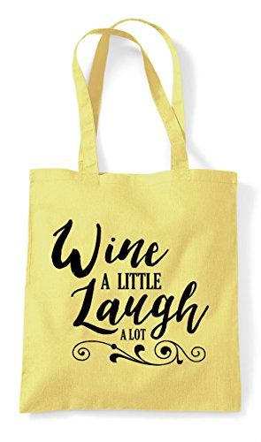Little Statement Lemon Wine Laugh A Bag Lot Tote Shopper PTxO5qx