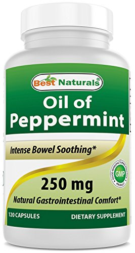 (Best Naturals Peppermint Oil Bowel Soothing Dietary Supplement, 250 mg, 120 Count)