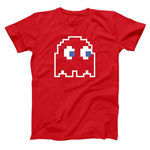 8-Bit Video Game Ghost Group Halloween Costume Mens Big and Tall T-Shirt LT Red ()