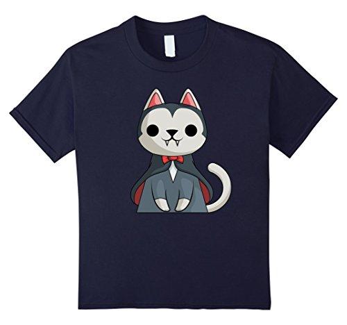 Kids Vampire Cat T-Shirt Funny Halloween Gift Shirt 12 (Vampire Cat Costume For People)