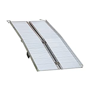 Multi Size Aluminium Ramp Folding Loading Access Portable for Wheelchair Scooter Van Disable (Large Foldable) Click on image for further info.
