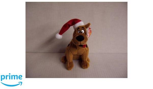 Ty Beanie Baby - Perro de peluche, diseño de Scooby Doo con gorro de Navidad: Amazon.es: Juguetes y juegos