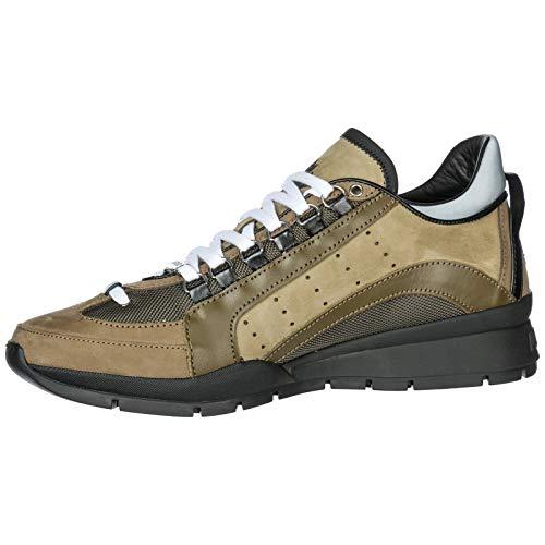 Dsquared2 Nuove Uomo SNM040413030001M1115 Sneakers Scarpe 40 Verde 551 in EU Pelle RqrR1nwT