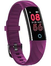 BINDEN Smartband S5 Presión Arterial, Ritmo Cardíaco, IP68, Podómetro, Oxigeno en Sangre, Notificaciones, Multi-Sport, Tiempo de Actividad