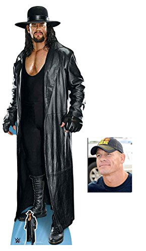 (The Undertaker Long Coat and Hat WWE Lifesize and Mini Cardboard Cutout Fan Pack 194cm x 67cm, Includes 8x10 Star Photo)
