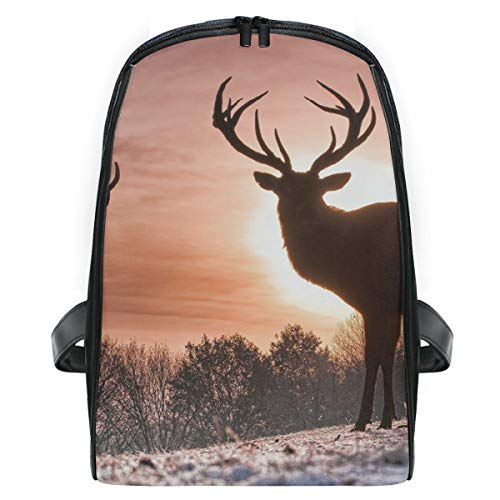 Backpack Wild Deer Beautiful Mini Shoulders Bag Classic Lightweight Daypack for -