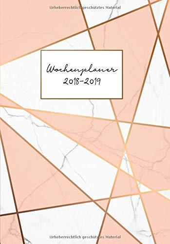 Wochenplaner 2018-2019: Modernes Marmor-Pattern Design, Juli 2018 bis August 2019, Din A5, 1 Woche auf 2 Seiten (Bürobedarf 2018-2019, Band 1) Taschenbuch – 30. August 2018 Papeterie Collectif Independently published 1719967164
