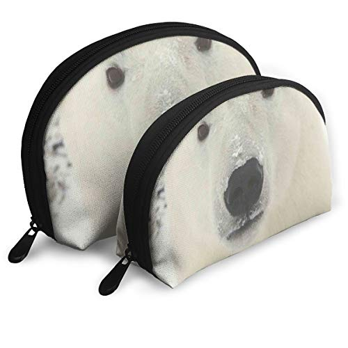 Makeup Bag Bear Face Portable Shell Pouch For Girlfriend Halloween Gift 2 Pack for $<!--$17.99-->