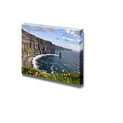 Canvas Prints Wall Art - Hiking Walking Trail by Sea Cliffs and Ocean on Vacation - 12