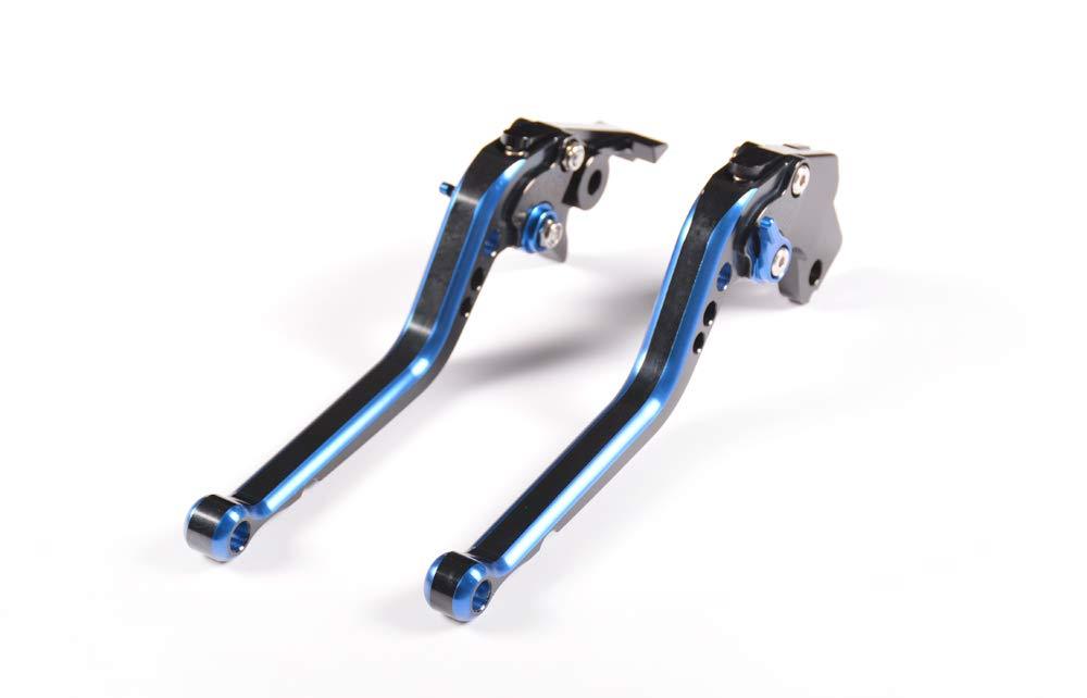 Not Z750S Model Z750 2007-2012 WildBee Largo Ajustable Carreras de Motos Palancas de Freno y palancas de Embrague Azul y Negro Compatible para Z800//E Version 2013-2016
