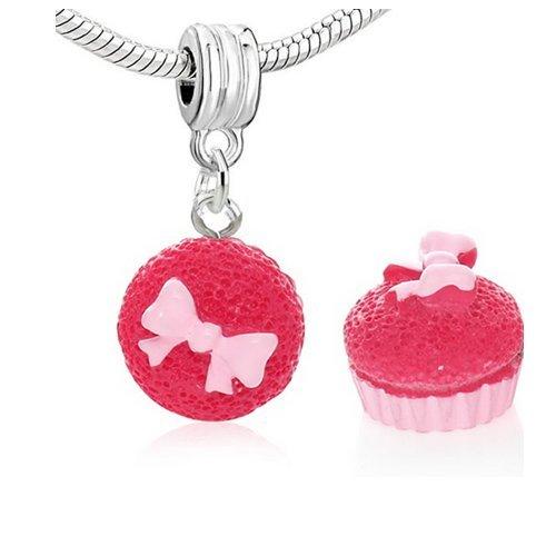 Sexy paillettes Femme Cupcake W/pour Charm pour bracelet chaîne serpent