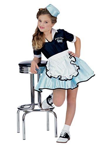 Halloween 50's Girl (Rubies 50s Favorite Girls Car Hop Costume, Large ,)