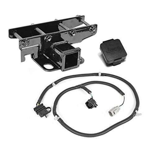 Best Rugged Ridge 11580 52 2 Receiver Hitch Kit With Jeep Plug