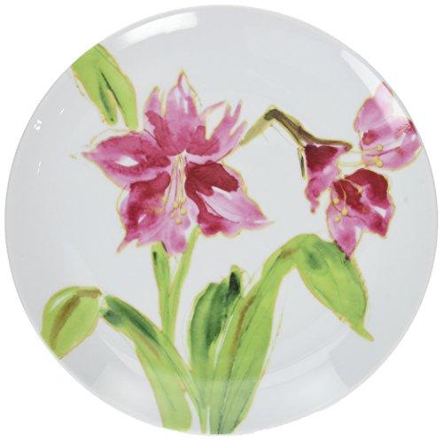 Paula Deen Dinnerware 4-Piece Dessert Plate Set, Amaryllis