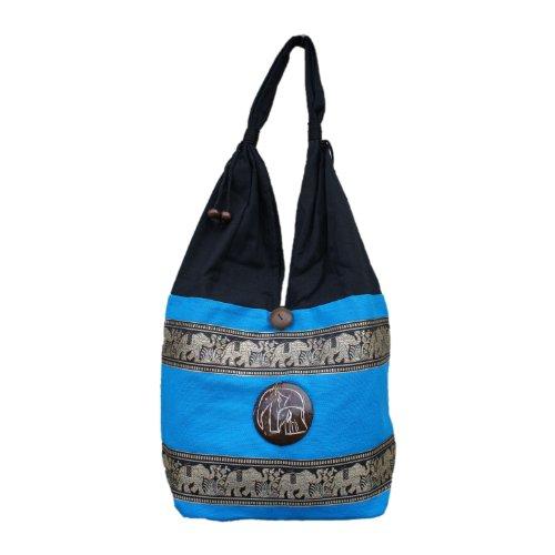 diseño elefante nbsp; bordado Marchas hippie de Thai bolsa de Iq7nZ