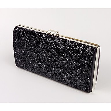 Wedding Black Grey Burenqi Crystal Event Detailing for Gold Black Evening All Bag Black Silver Women;s Seasons Formal leatherette Party AqwrAT60