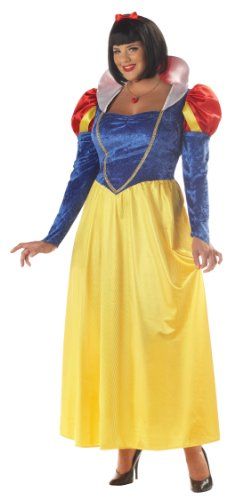 California Costumes Women's Snow White Costume, Blue/Yellow, 2XL (Snow White Costume For Adults)