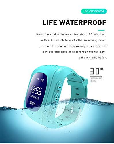 Amazon.com: Q50 OLED pantalla GPS inteligente Chico reloj llamada SOS ubicación localizador del buscador de Tracker para Childreb Anti perdido Monitor bebé ...