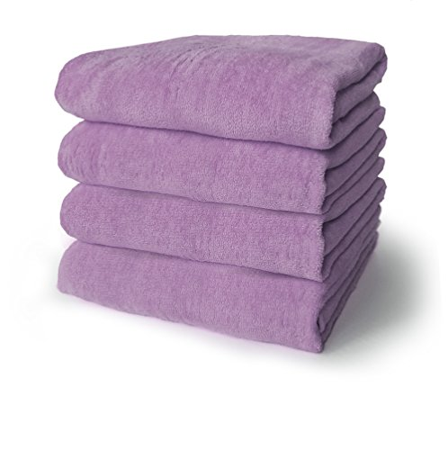 Diplomat 30x60 Terry Velour Beach Towels 100% Cotton Velour, 11.0 Lbs/Dz. (Lavender) ()