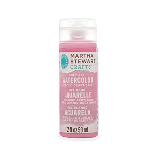 Martha Stewart Rose (Martha Stewart Crafts Soft Gel Watercolor Acrylic Paint in Assorted Colors (2 ounce), 33444 Rose Pink)