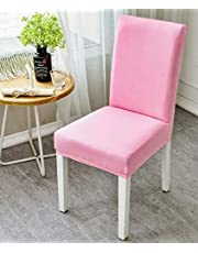 Dining chair slipcover cover pink colour