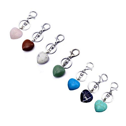 fengshuisale Feng Shui Quartz Heart Keychain W Red String Bracelet W3391 (green) (Green Bracelet Goddess)
