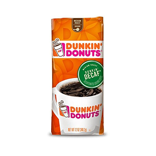Dunkin' Donuts Original Blend Decaffeinated Ground Coffee, 12 Ounce Ground Decaffeinated Coffee