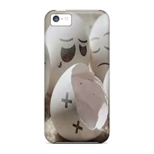 Sanp On Case Cover Protector For Iphone 5c (eggs)
