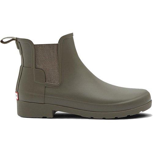 Hunter Women's Original Refined Chelsea Matte Finish Boots, Swamp Green (7 M US)