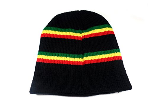 Hat- Jamaican Beanie- Mens Beanies Knit Beanie (Rasta -1) ()