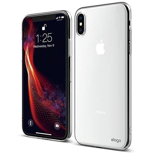 elago Slim Fit Series for iPhone Xs Max Case [Crystal Clear] - [Full Covered][Camera Protection][Support Wireless Charging][Scratch & Minor Drop Protection] Compatible with Apple iPhone Xs Max (2018)