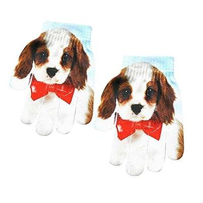 Valentine's Best Gifts!!! Jumberri Children Kids Winter Warm 3D Animal Print Kitty Pet Cute Heat Transfer Knitted Gloves Fashion(16x12cm)