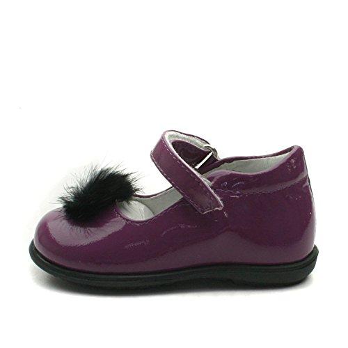 SB157 Studio BIMBI Dolly Shoe w/PomPom Smart for Girls >      > Zapato bailarina formales con Pom Pom para chicas Violet (Rosa)
