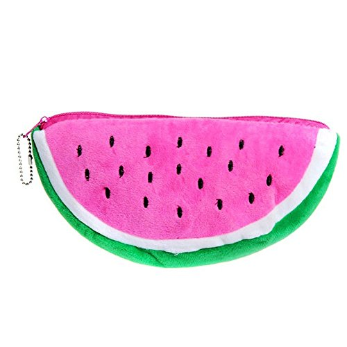 Watermelon Plush Stationery Pencil Case Cosmetic Bag Pen Purse Storage Bags