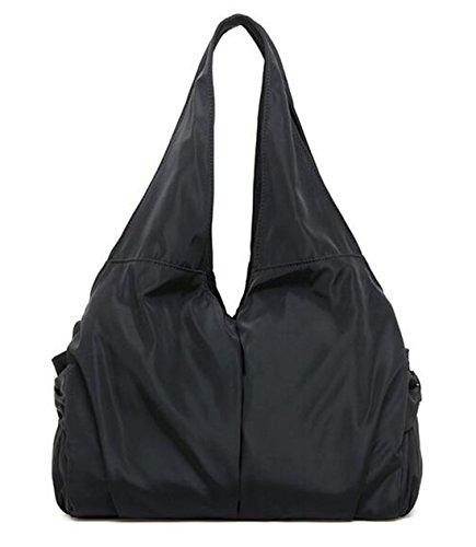 Women high quality shoulder shopping bags medium handbags (Black) - 9