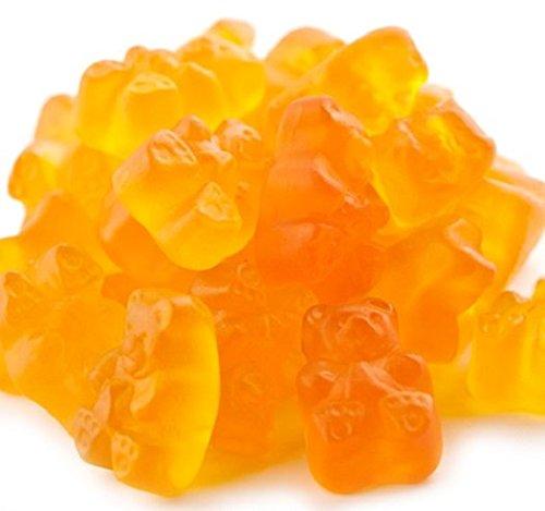 Peach Gummi Bears Peach flavor Gummy Bears 5 pounds Orange Candy candy buffet (Candy Gummi 5 Pound Peaches)