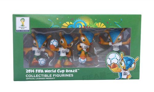dd32c743e 2014 Fifa World CUP Football Mascot Brazil 3-d Toy Collectible Figurines  4-pc