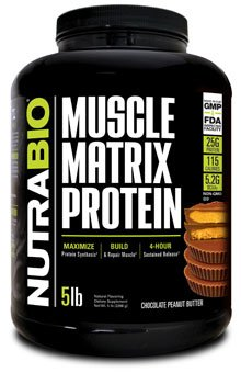 NutraBio Muscle Matrix Protein - Chocolate Peanut Butter 5lb