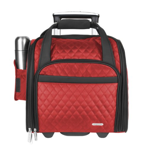 Travelon Wheeled Underseat Carry-On with Back-Up Bag, Red...