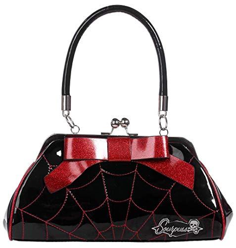 Sourpuss Spiderweb Floozy Purse Black/Red (Sourpuss Handbags)