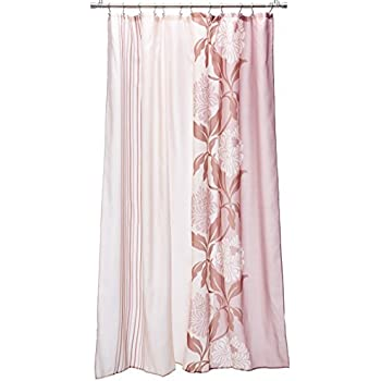 Carnation Home Fashions Chelsea Extra Long Printed Fabric Shower Curtain 72 Inch By 84