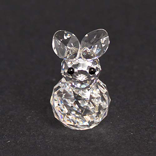 Vintage Swarovski Crystal Bunny Rabbit Figurine 7652 NR 020 000 with Old Square Logo