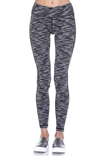 Mono B Womens Slim Fit Performance Activewear - Printed Yoga Leggings