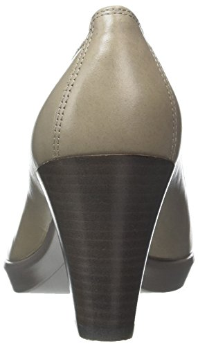 ECCO Rock Closed Moon Grey Stack 1459 Women's Toe Plateau Shape 55 Heels RqR6r4