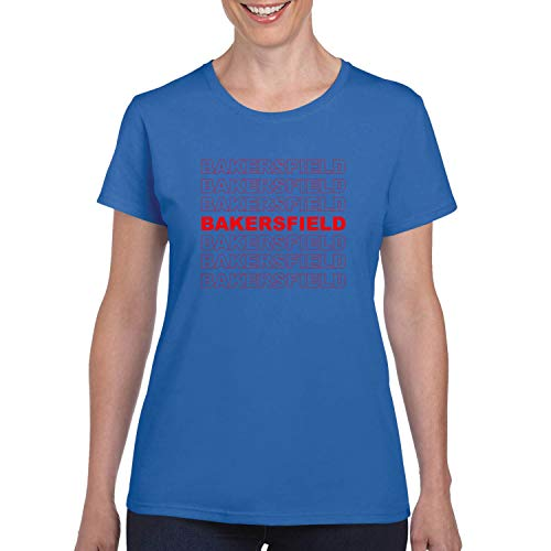 Red Box Logo Bakersfield City Pride Womens Graphic T-Shirt, Royal, Small -