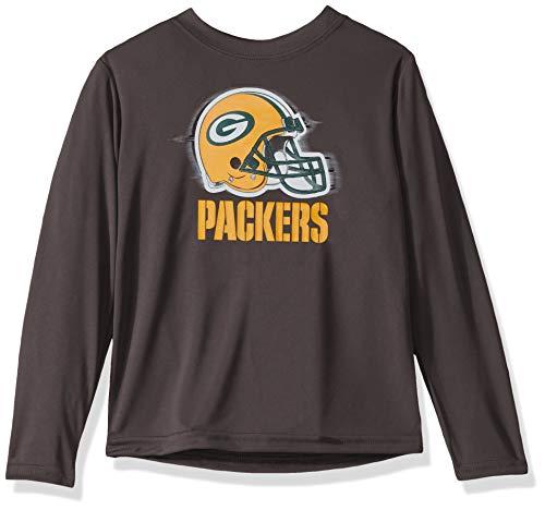 NFL Green Bay Packers Boys Long Sleeve GREY LOGO TEE SHIRT, Team Color, 4T (Best Sports Team Logos)