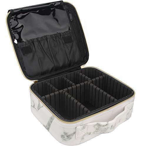 "Relavel Travel Makeup Train Case Makeup Cosmetic Case Organizer Portable Artist Storage Bag 10.3"" with Adjustable…"