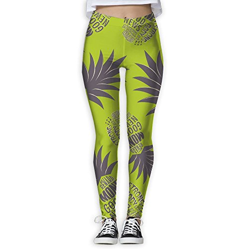 JCOE Yoga Reward Pineapple Money Business Printed Women's Workout Running Yoga Pants Leggings Trousers by JCOE Yoga