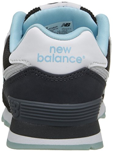 New Balance KL574 State Fair Pre Running Shoe (Little Kid) Black/Blue