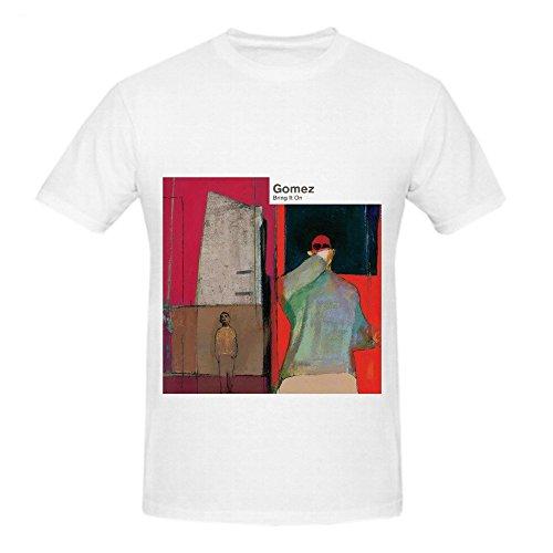 Price comparison product image Gomez Bring It On Rock Men O Neck Design Tee Shirts White